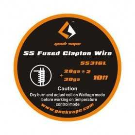 Fil résistif SS fused clapton - 10m - Geekvape
