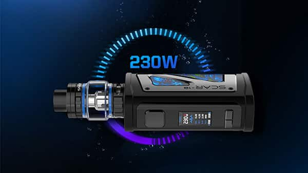 Puissance 230w kit scar 18 smok